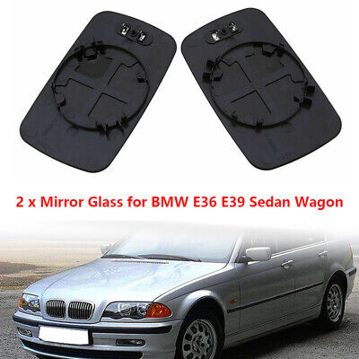 Right Driver Wing Mirror Glass BLUE Wide Angle BMW 3 E46 COMPACT 98-05