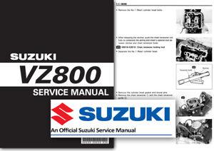suzuki vz800 marauder workshop service shop manual factory all