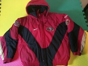 Details about San Francisco 49ERS 50th Anniversary Reebok Pro Line Hooded Jacket Men's Size L