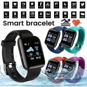 Wasserdicht Smart Watch Sport Tracker Pulsmesser Armband für Android iOS