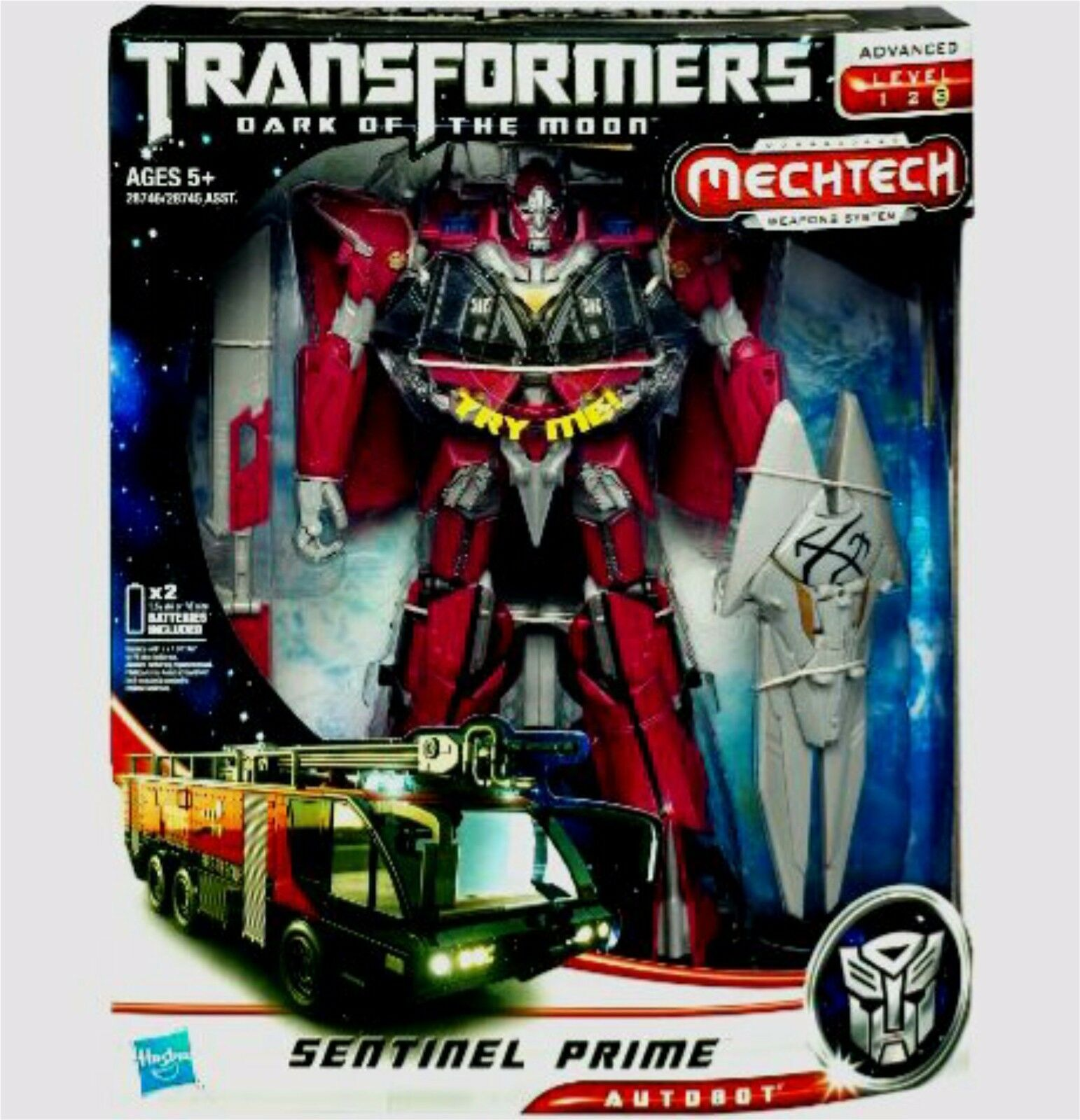 Clase Líder de Transformers Sentinel Prime oscuro de la Luna electrónico 2010 Nuevo