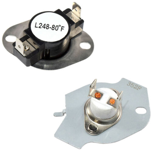 REX Series REL HQRP Dryer Thermostat Thermal Fuse Cut-Off Kit for Roper EL