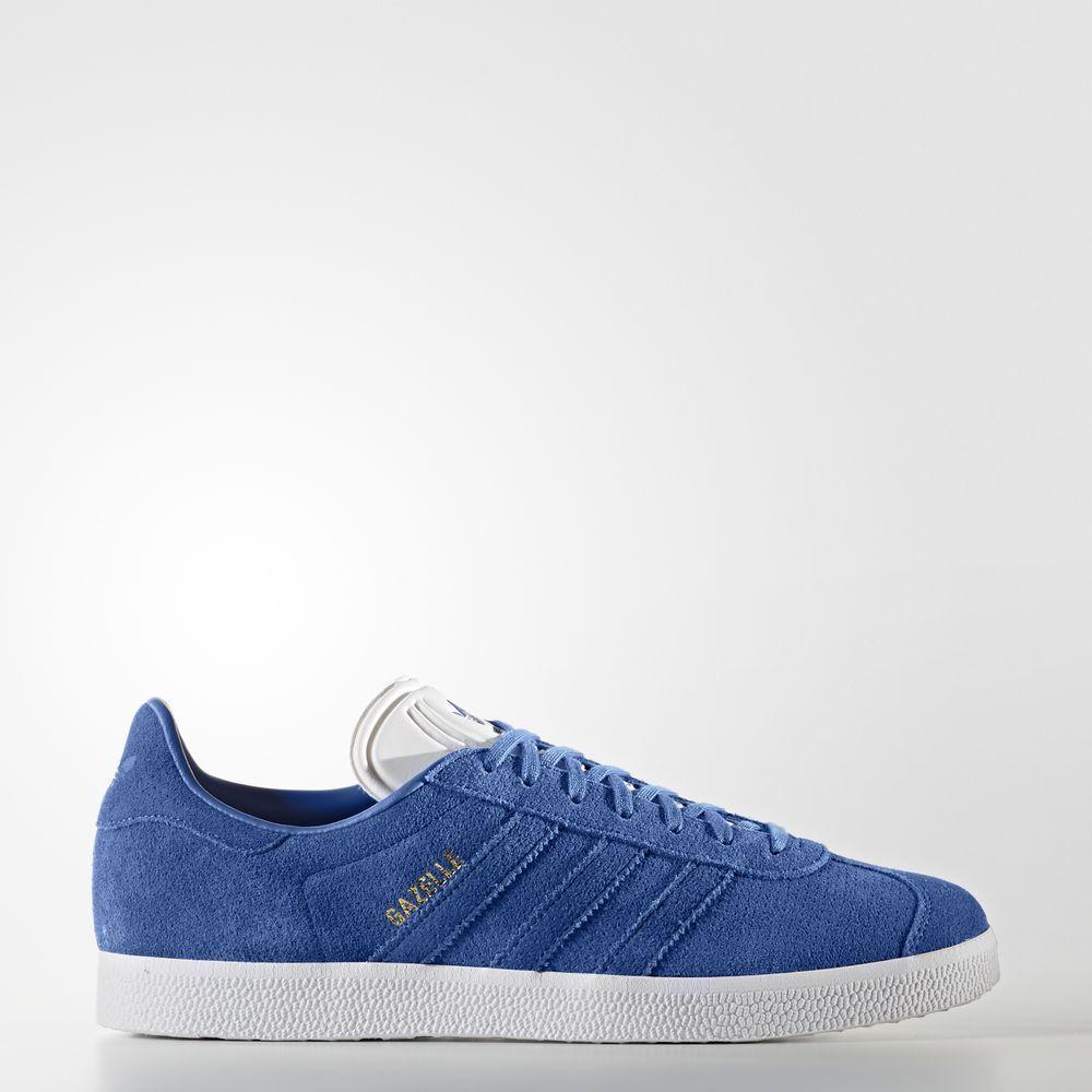 bnib adidas blauen gazelle wildleder ausbilder größe 10 doppel - blauen adidas super selten ausverkauft e6df62