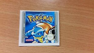 Gameboy Pokemon Blue Version Replacement Label Decal ...
