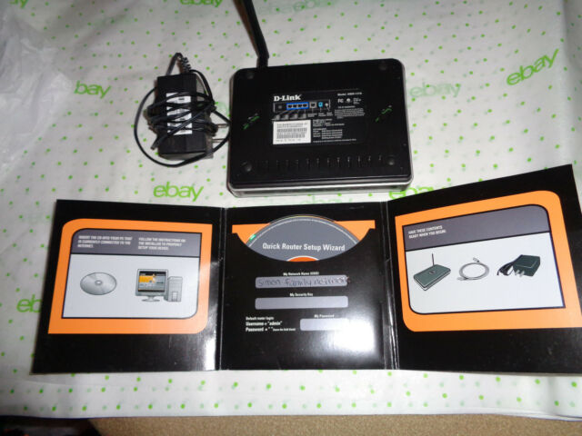 $49 D-Link WBR-1310 54 mbps 4-Port 10/100 Router 100% Working and Tested