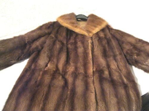 Mantel mit pelz braun