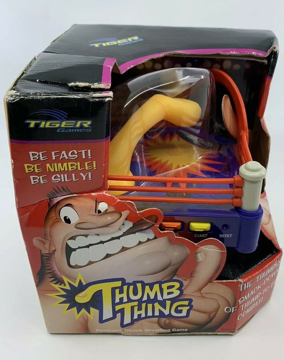 NEW 2003 Tiger Thumb Thing - Electronic Thumb Wrestling Game - Factory Sealed
