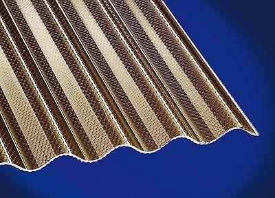 Fürs Dach Acrylglas Wellplatte ähnlich Plexiglas Wellplatte Acryl 76/18 Wabe Bronce Trapezbleche & Wellplatten
