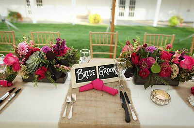 RUSTIC TABLE RUNNER HESIAN BURAP JUTE WEDDING DECORATION