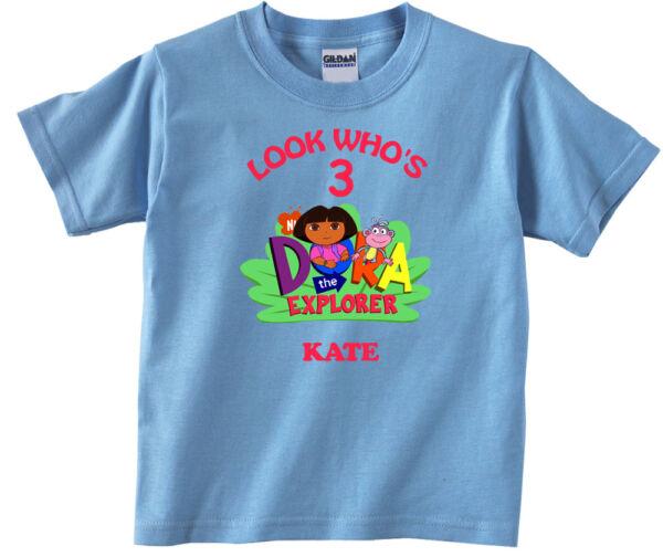 Personalized Custom Dora The Explorer And Boots Birthday Shirt Gift
