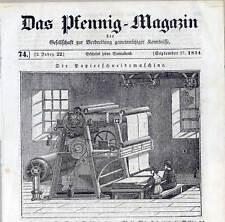 Papier-Papierschneidemaschine-Beruf - Holzschnitt 1834