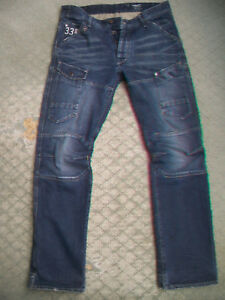 MENS-G-STAR-GENERAL-5620-TAPERED-JEANS-SIZE-34