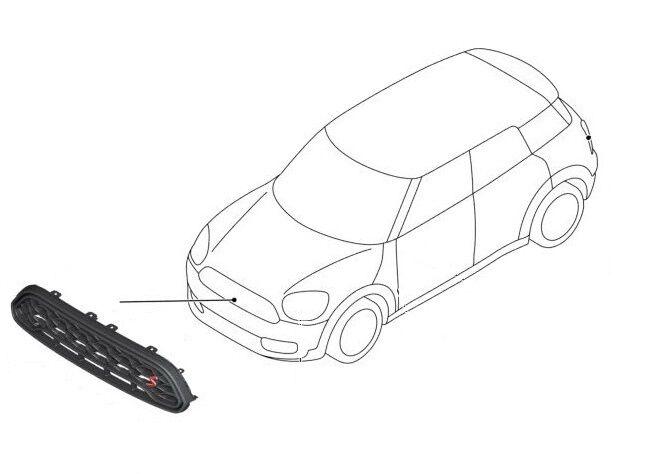 Mini Countryman F60 COOPER S Grille Décorative 51137405406 Calandre 7405406