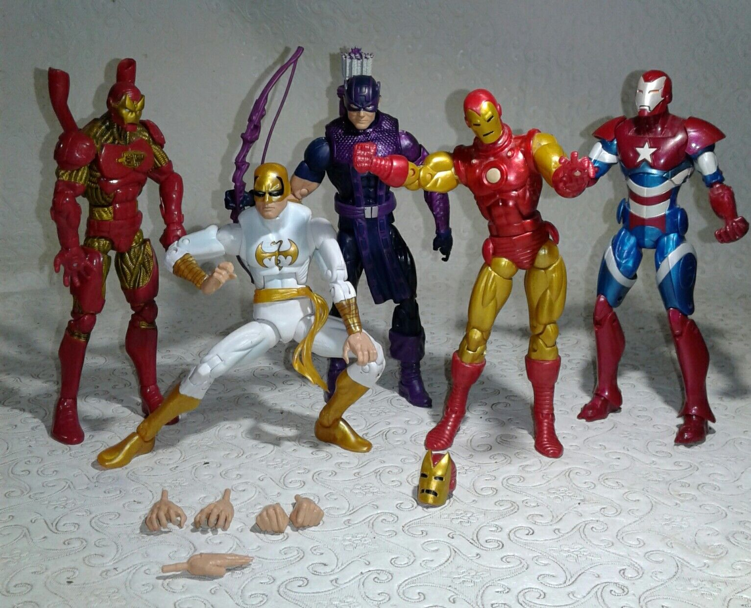 Marvel - legenden action - figur viel  iron man 2, eiserne faust, hawk eye, iron patriot.