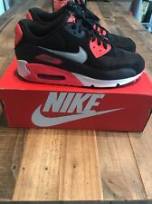 Nike Air Max 90 Essential Size 10 Black/Grey/Atomic Red