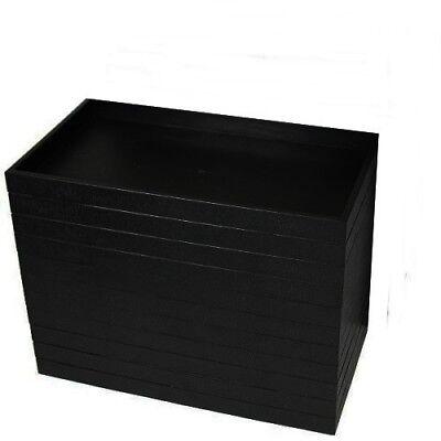 12 Black Plastic 14 3//4 x 8 1//4 x 1 1//2 Utility Jewelry Organizer Display Trays