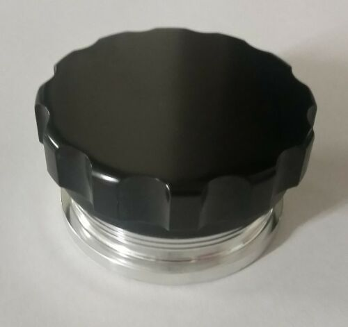 """2.5/"""" inch 63.5mm Aluminum Weld On Filler Neck And Cap Oil Fuel Water Tank Black"""