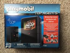 Playmobil 4879 Top Agents Wireless Spy Camera and Monitor with USB Port NEW
