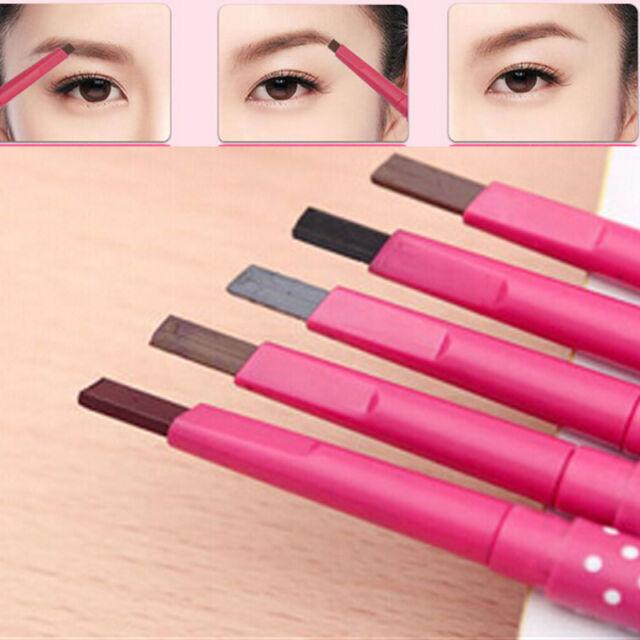 pink 1pc Waterproof Durable Eyebrow Pencil Eye Brow Liner Powder Makeup Tool