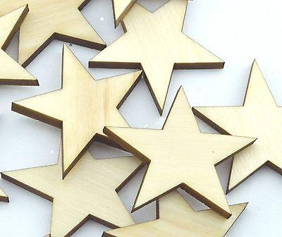Crafting Supplies - 100 Laser cut wooden stars