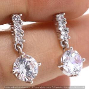 Large-0-5Ct-Round-White-Zirconia-Earrings-Women-Jewelry-14K-White-Gold-Plated
