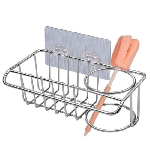 3 in 1 Sponge Holder Dish Cloth Hanger Brush Storage Sink Organizer  Adhesive