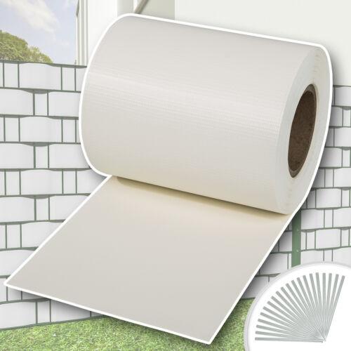PVC Sichtschutz Streifen Sichtschutzfolie Doppelstabmatten Schutz Zaun 35m weiß