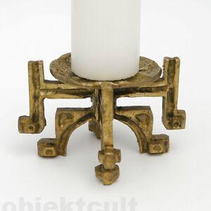 Vintage 60s–70s Brutalist Bronze Candle Holder Germany 1 ...