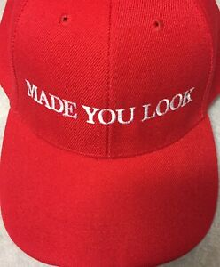 e85663179a9a5 Image is loading MADE-YOU-LOOK-Trump-Inspired-Parody-Hat-Cap-