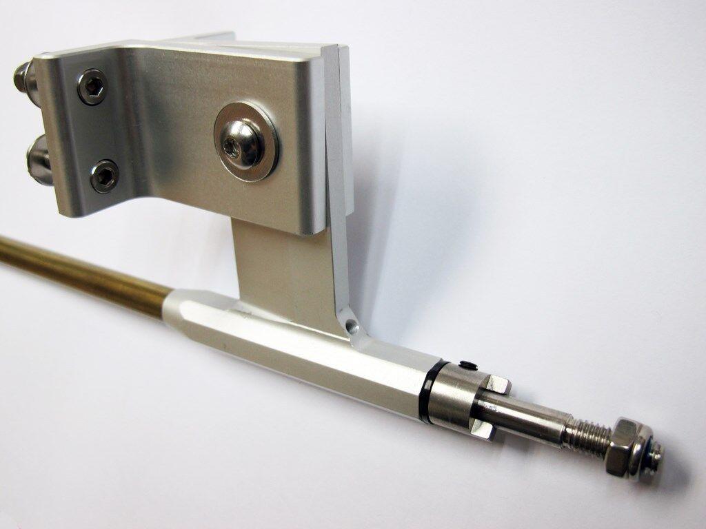 Aluminio Puntal T70 con 1 4  6.35mm Cable del eje 500mm Set Completo Para Radio Control Barco