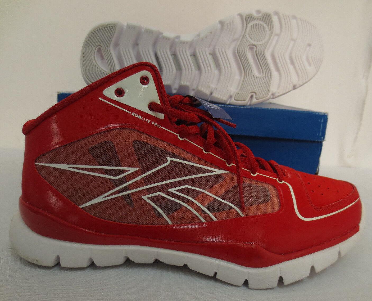 REEBOK SUBLITE RISE 10.5 GYM Schuhe J99829 RUNNING WORKOUT GYM 10.5 ROT WALKING NEW COOL 6e2ef9
