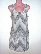 NWT $328 Trina Turk Black & White Geometric Stripe Silk Dress 10