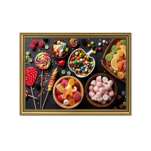 Details about  /3D Colored Candy Kid 1 Framed Poster Home Decor Print Painting Art AJ WALLPAPER