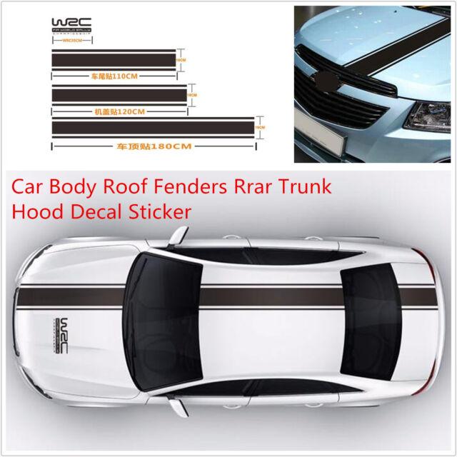 Popular Car Racing Body Hood Roof Rear Trunk Fender Vinyl Decal Graphics Sticker