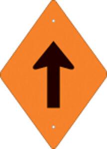 Voss Signs 262 DA VOR  Orange Plastic Reflective Trail Blazer Vertical Arrow