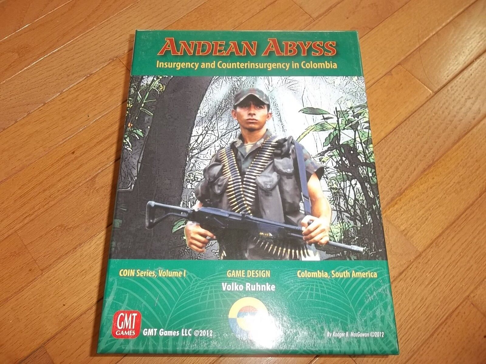 GMT Games Andean Abyss Insurgency and Countterinsrugency in Columbia unpunched