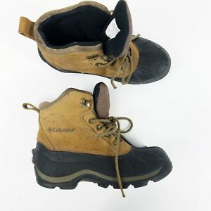 af31c107144 Columbia Falmouth Winter Snow Hiking Boots Leather Upper Womens Sz 7 ...