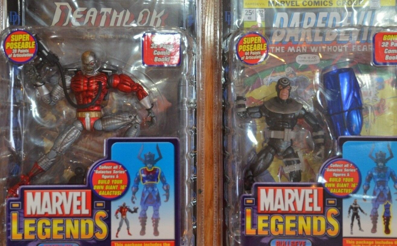 1 Deathlok and 1 Bullseye collectible toys new in box