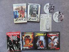 Lucio Fulci Zombi Series Zombie 2 3 4 5 Collection Horror Lot Cult Italian Euro