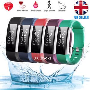 UK Sports Fitness Tracker Watch Waterproof Heart Rate Activity Monitor Fitbit