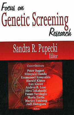 Focus on Genetic Screening Research by Nova Science Publishers Inc (Hardback,...