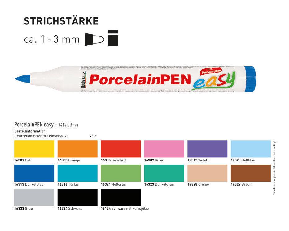 Light Blue 16320 Hobby Line Porcelain Pen Easy Brush Marker