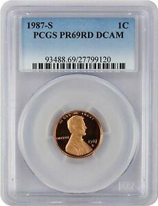 1987-S-Lincoln-PROOF-Cent-Graded-PR69RD-DCAM-by-PCGS