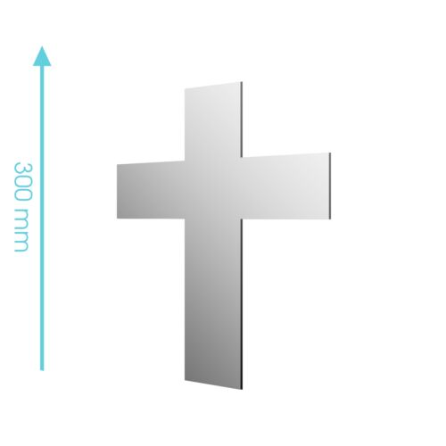 Nouveau acrylique croix chrétien église catholique miroir-tailles 100mm à 1200mm