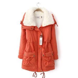 design de qualité 4374a ea3cc Détails sur 1x Femme Doudoune Blouson Manteau Longue Cachemire Faux Jacket  Hiver Chaude Mode