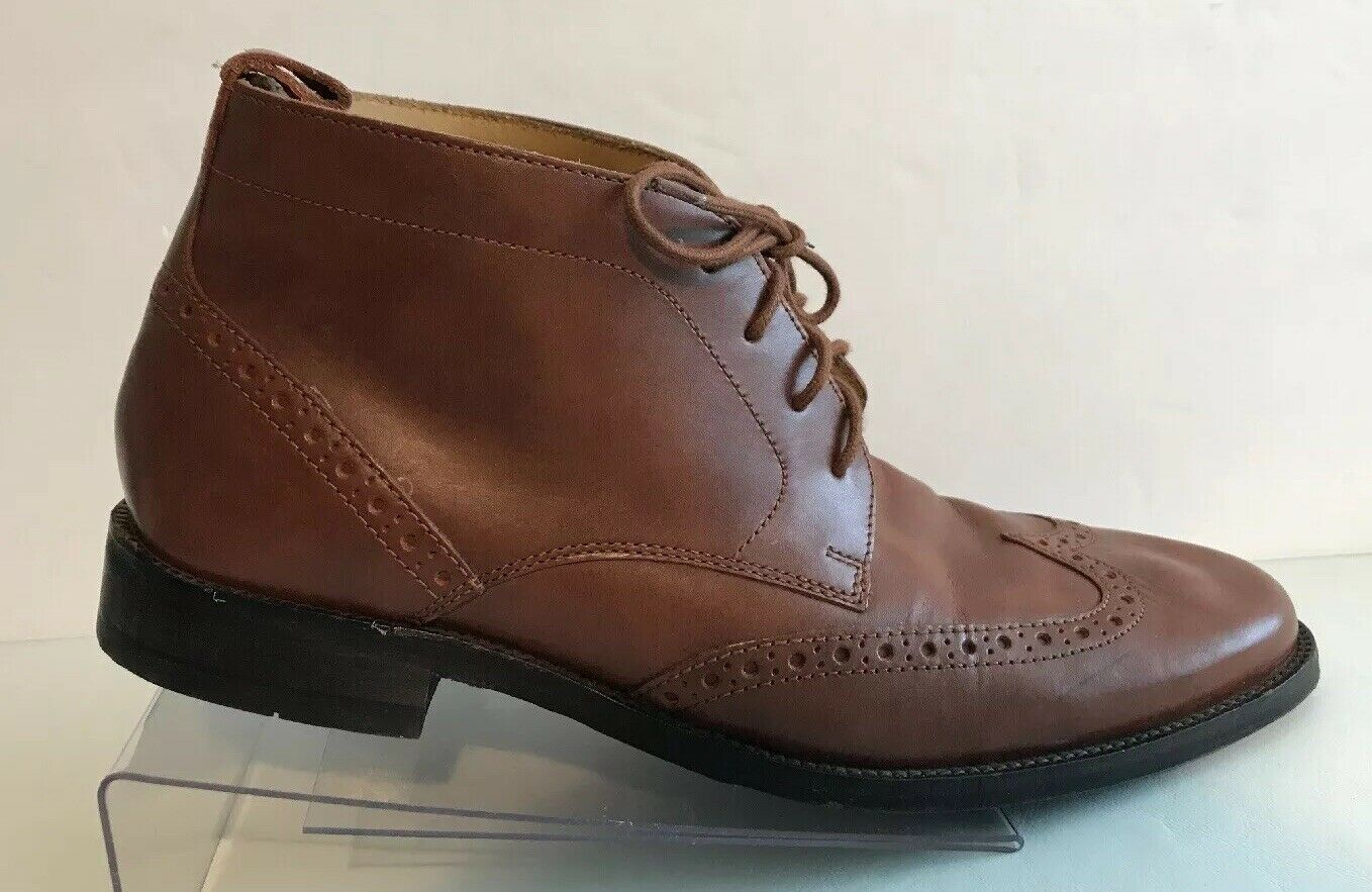 Cole Haan Wingtip Chukka Leather Ankle Boot Brown Lace Up Mens 7 M Wing Tip