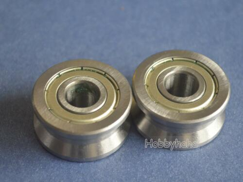 New 5pcs V Groove 10*30*14mm Track Roller Guide Vgroove Sealed Ball Bearing