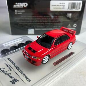 1-64-INNO64-Mitsubishi-Lancer-Evolution-III-GSR-Red-Philippines-with-Spare-Wheel