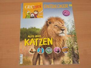 """GEO mini ENTDECKER """"Alles über KATZEN"""" ab 5 Jahre Ausgabe 6 2017 NEUWERTIG!"""