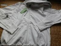 Hugo Boss Mens Designer White Jacket Coat Hooded Jumper Tracksuit Suit Small